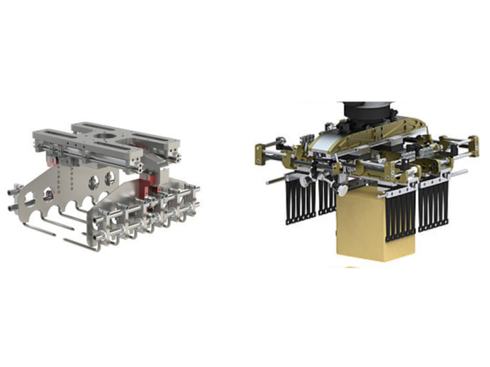 Gripper can be flexibly changed to suit the needs of loading robots