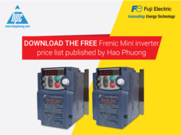 Download the free Frenic Mini inverter price list published by Hao Phuong