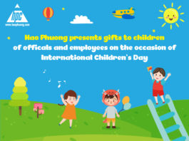 Hao Phuong presents gifts to children of officals and employees on the occasion of International Children's Day – June 1