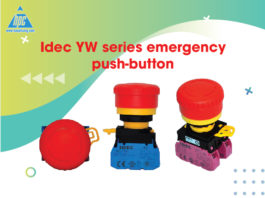 Idec YW series emergency push-button