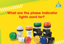 What are the phase indicator lights used for?