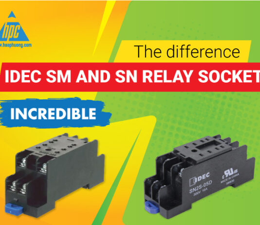 The difference between SM (old) and SN (new) relay socket of Idec