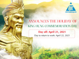 Hao Phuong announces the holiday of 2021 King Hung commemoration day