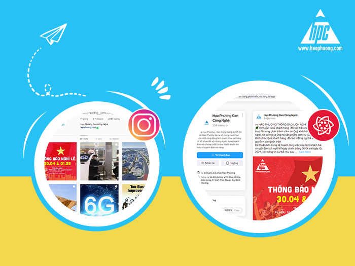 Hao Phuong officially launched its Instagram and Lotus social network page