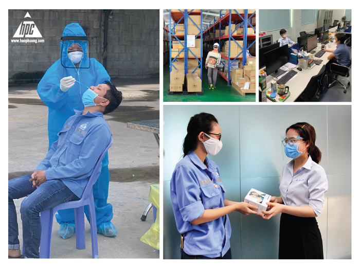 """Hao Phuong spreads the spirit of """"Think together"""" to support the epidemic season"""